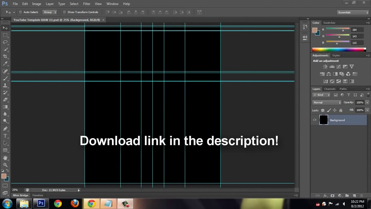 Adobe Photoshop Cs6 How To Free Blank Youtube Layout Template 2012