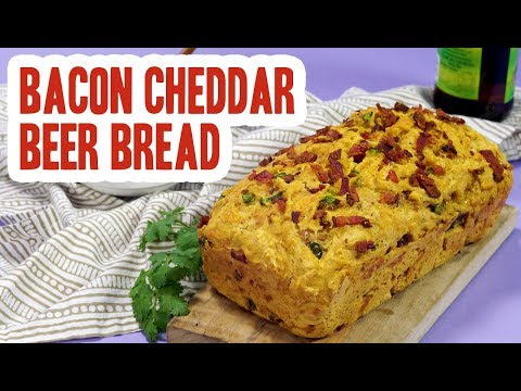 Jalapeño Bacon Cheddar Beer Bread