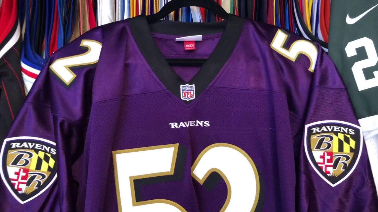 Ray Lewis Authentic Mitchell and Ness 2000 Jersey Close Up Look