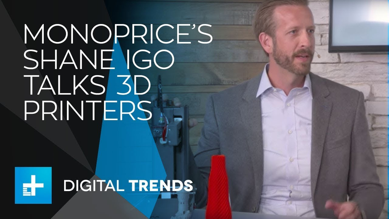 Shane Igo VP, Product Management at Monoprice 3D Printing - Live Interview at CES 2018