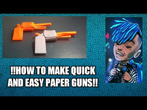 !!HOW TO MAKE AN EASY PAPER REVOLVER PISTOL!!