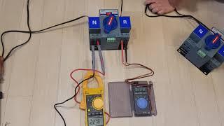 캠핑카, 카라반 전기 절체기 테스트