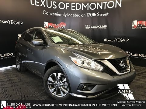 Used Gray 2017 Nissan Murano Sl Walkaround Review Wainwright Alberta