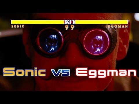 Sonic the Hedgehog vs Eggman with healthbars