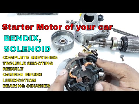 How to rebuilt/service/fix your car's STARTER MOTOR.
