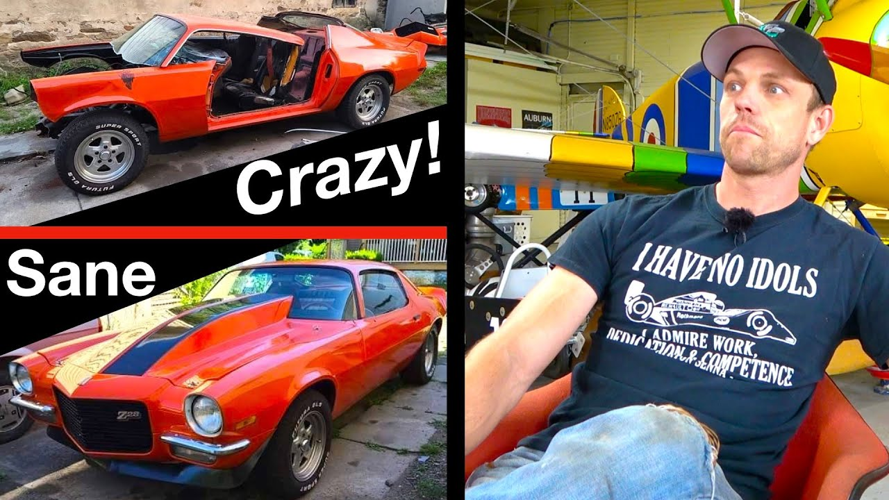 Man snaps and destroys his 1972 Camaro with a SAW!