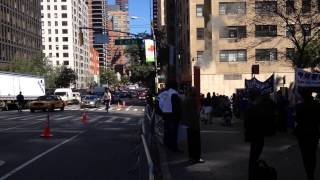 NYPD & UNITED STATES SECRET SERVICE ESCORT MOTORCADE & FDNY BATTALION 8 RESPONDING IN MIDTOWN, NYC.