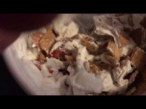 Best Desert Ever!  Cinnamon Toast Crunch, Strawberries, & Whip Cream