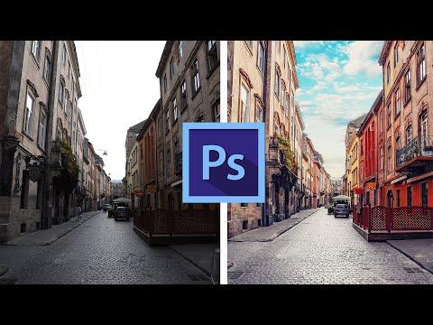 Обработка в Photoshop городского пейзажа