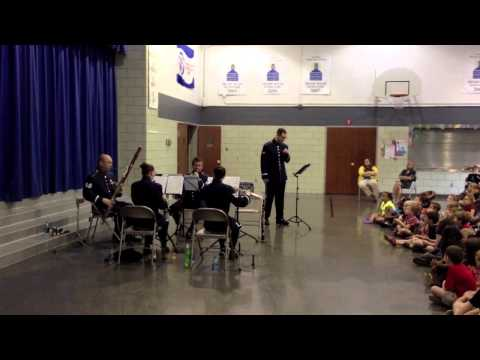"""""""Midwest Winds"""" performing at Henry Raab Elementary School"""