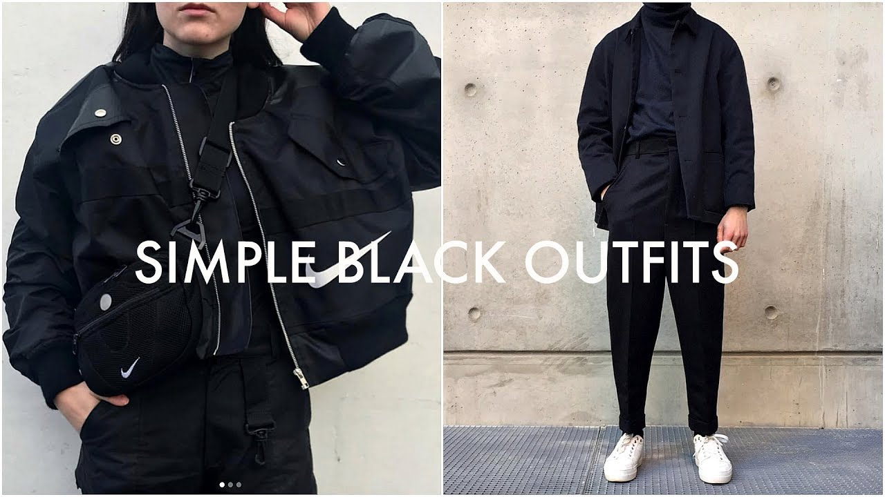 3 Simple Black Outfits Lookbook Streetwear Men S Fashion Daniel Simmons Youtube