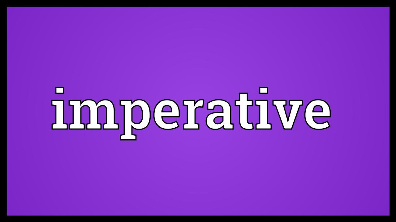 What is an imperative and what does it mean 24