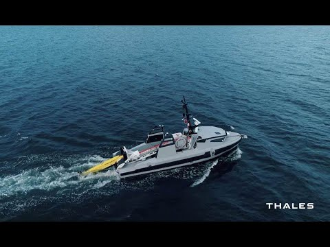 Discover the first unmanned mine warfare system-of-systems - Thales