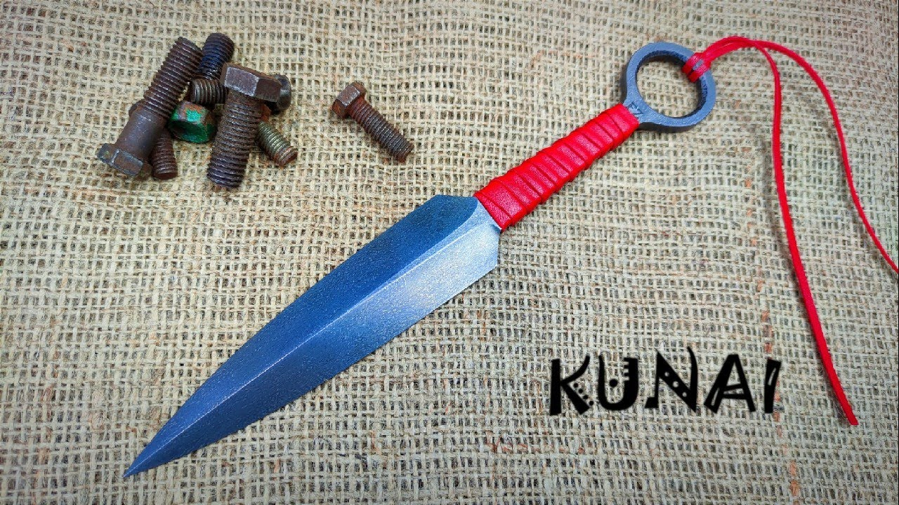 WOOTZ steel from rusty bolts   Forging a flying KUNAI
