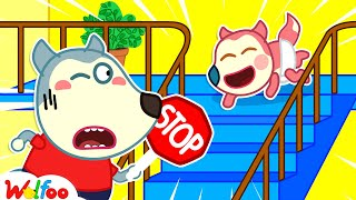 Stop, Baby Jenny! Don't Crawl Down Stairs - Wolfoo Learns Safety Tips for Kids | Wolfoo Channel