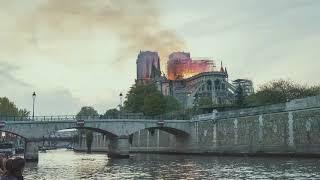 L'incendie de Notre Dame de Paris - Avril 2019 - Timelapse 4K