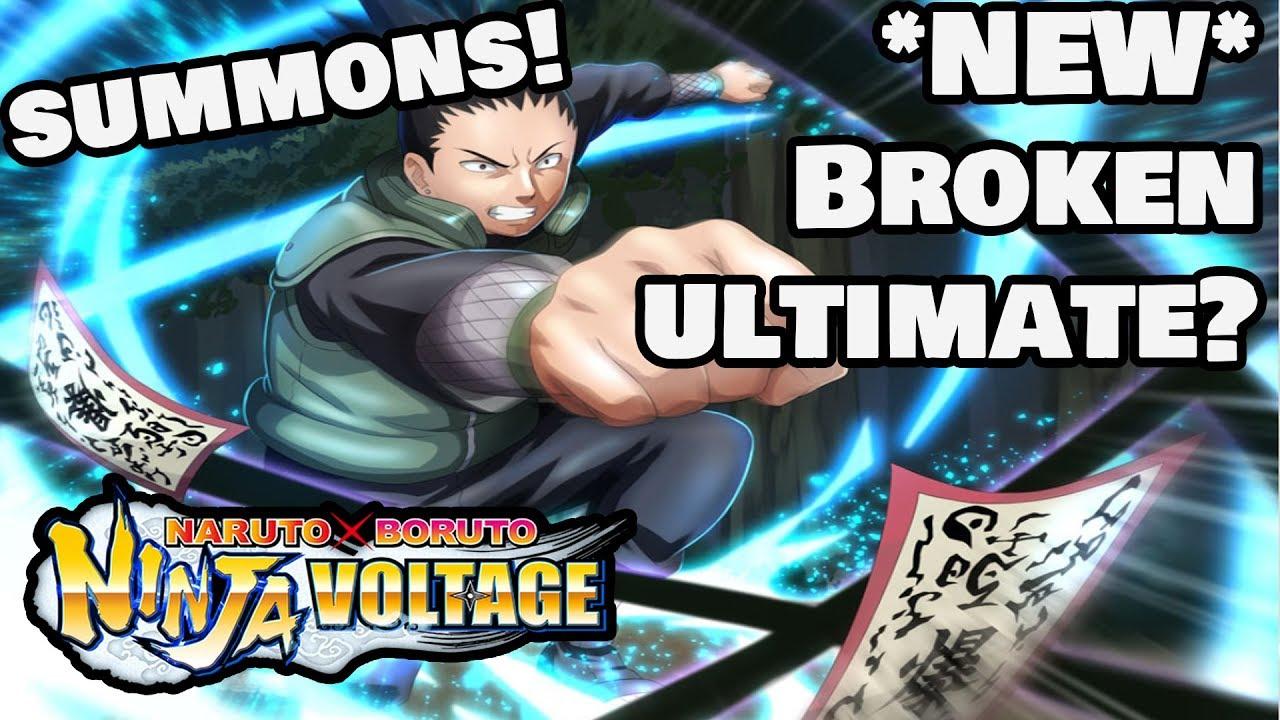 New broken ult ? (Pick up Summons for *Shikamaru Nara*) | Naruto X Boruto  Ninja Voltage