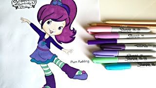 Plum Pudding from Strawberry Shortcake Coloring l ColorfulCat