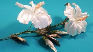 Ribbons hibiscus / Hibisco de cintas / Гибискус из лент. МК