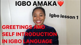 Igbo lesson 1 - Learning the igbo language fast and easy for beginners
