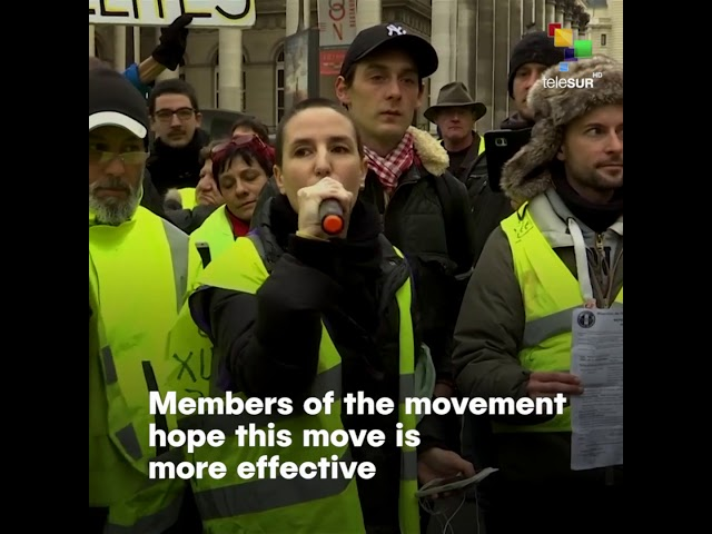 Yellow Vests' Plan to Strike Banks