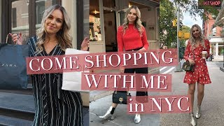 COME SHOPPING WITH ME IN NEW YORK - TOPSHOP, ZARA, BRANDY MELVILLE, CLUB MONACO HAUL | 2017