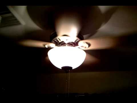 44 hunter stratford ceiling fan brushed nickel youtube 44 hunter stratford ceiling fan brushed nickel aloadofball Image collections