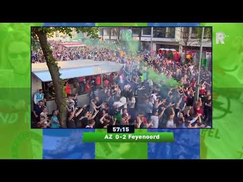 De goal van Robin van Persie met beelden van het Stadhuisplein en RTV Rijnmond-commentaar