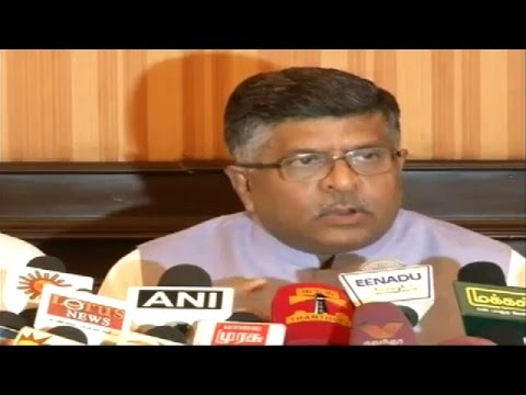 Press Conference by Shri Ravi Shankar Prasad in Coimbatore, Tamilnadu : 13.5.2015