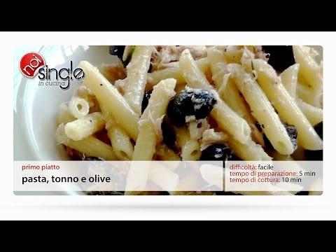 Pasta tonno olive