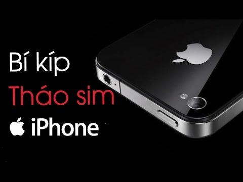 Tháo sim iPhone cực đơn giản không cần que chọc sim