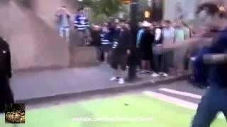 уличная драка, вырубил парня, жесткие приколы