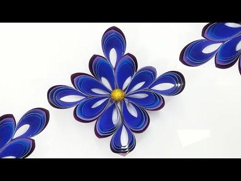 DIY 3D Paper Snowflakes | Dollar Tree Ornaments Christmas DIY Decor | CHRISTMAS 2019 DECORATIONS