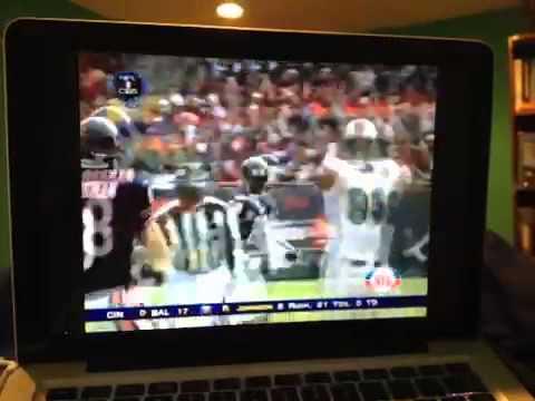 Jason Taylor intercepts Rex Grossman touchdown