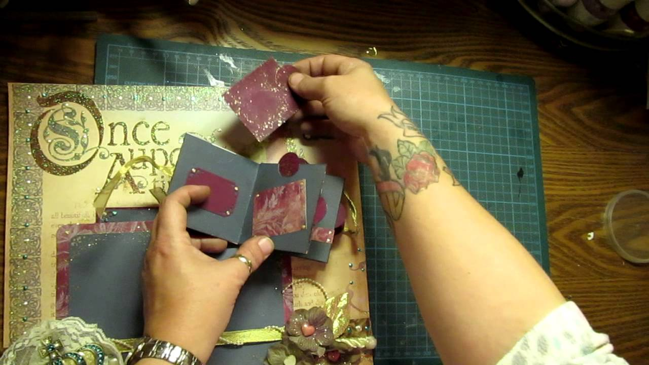 Scrapbook ideas mini books - Once Upon A Time Princess 2 Page Scrapbooking Layout Waterfall Mini Book