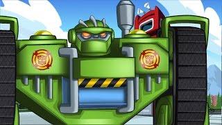 Мультик Трансформеры Боты Спасатели - Нашествие инопланетян на Гриффин Рок
