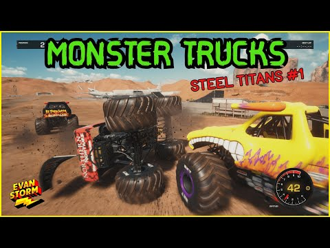 Monster Trucks Steel Titans FIRST GAME PLAY |