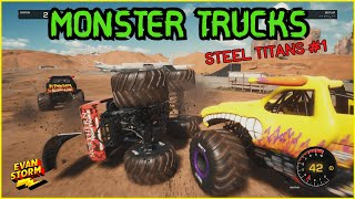 Monster Trucks Steel Titans FIRST GAME PLAY