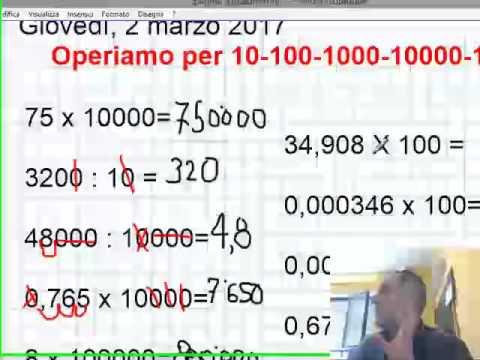 Operazioni Per 10 100 1000 10000 1000000 Youtube