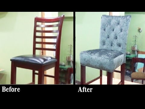 DIY - HOW TO REUPHOLSTER A BAR STOOL WITH A BUILT IN SEAT - ALO Upholstery