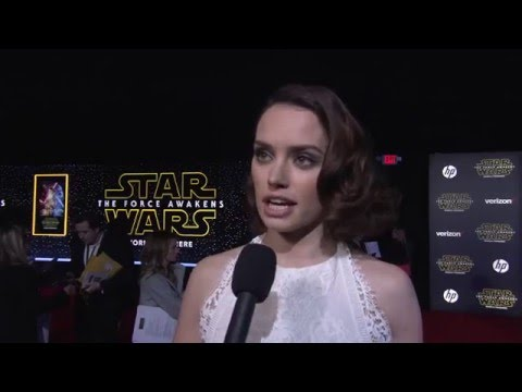 Star Wars The Force Awakens World Premiere Interview - Daisy Ridley