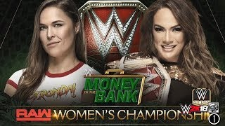 FULL MATCH - Ronda Rousey vs Nia Jax - RAW Womens Championship Match: WWE Money In The Bank 2018