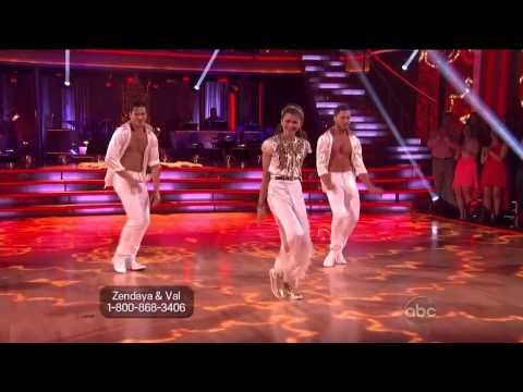 Zendaya & Valentin Chmerkovskiy & Gleb Savchenko - Salsa - Dancing With the Stars 2013 - Week 8