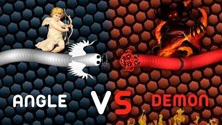 Slither.io SKIN HACK // Angel VS Demon // TROLLING MOMENTS