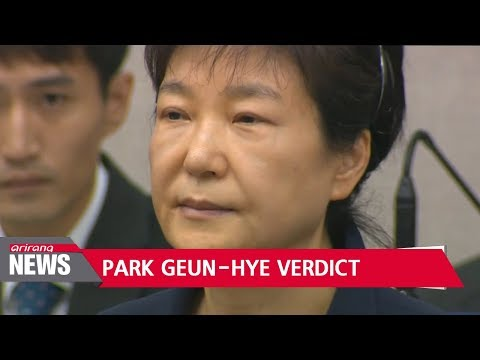 Former president Park Geun-hye sentenced gulity in 16 charges out of 18 accused