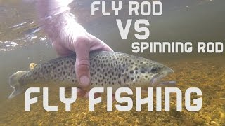 fly rod vs spinning rod fly fishing for trout wood river rhode island