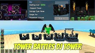 Roblox Tower Battles nova torre de DJ tropa! DJ Tower Review Tower Battles! Nova torre batalhas Update!