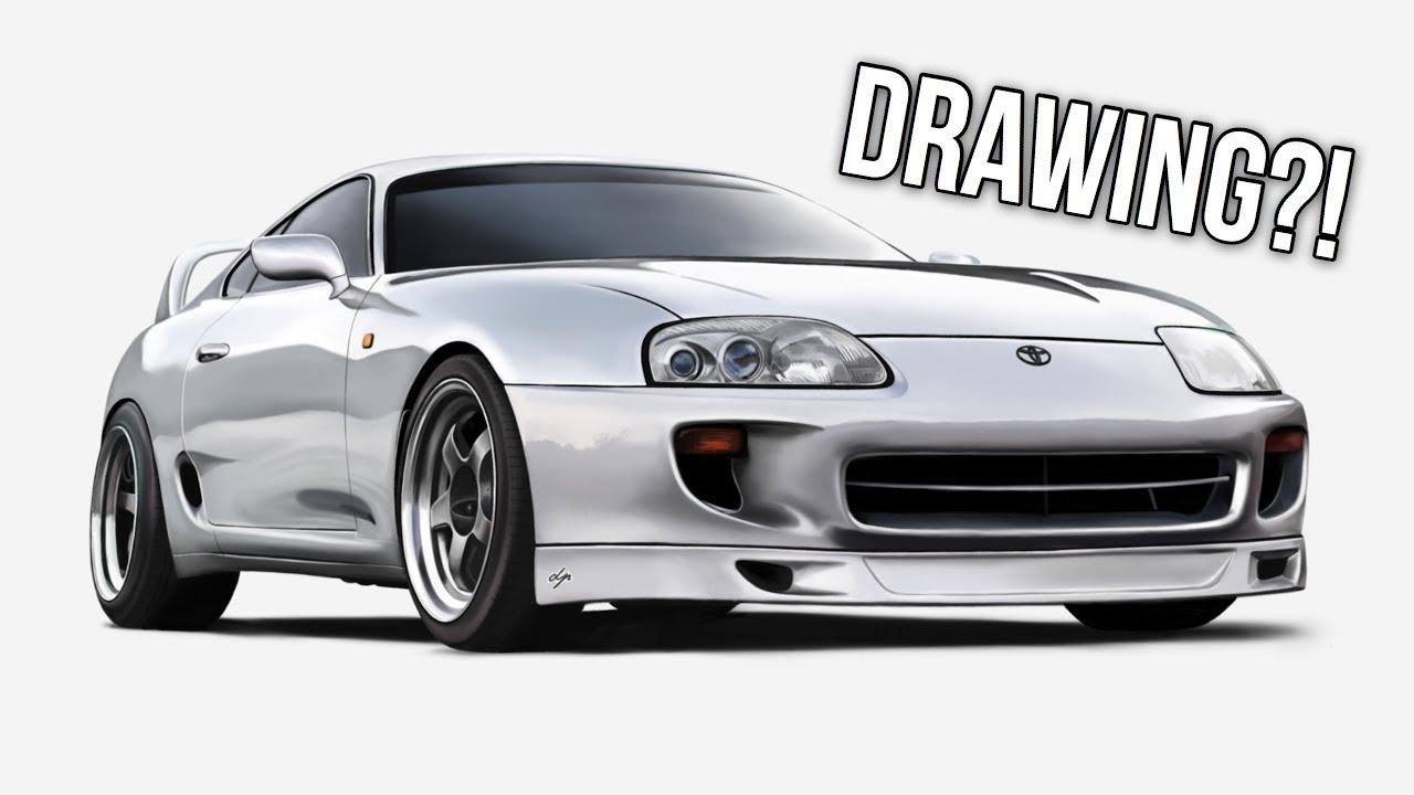 d32852000945 Realistic Drawing - TOYOTA SUPRA