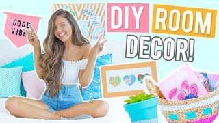 DIY Room Decor Ideas 2017! CHEAP + EASY Ideas Inspired by Pinterest!