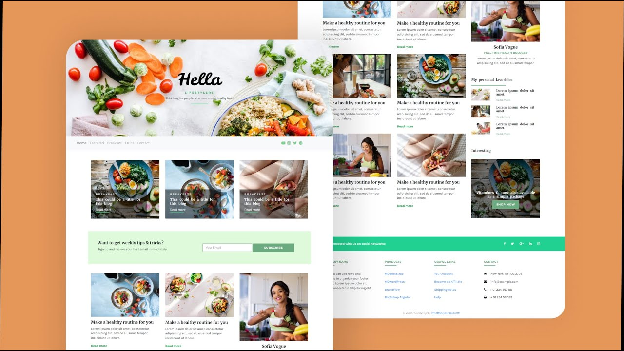 Complete Bootstrap Website Using Bootstrap / HTML / CSS